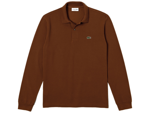 【国内正規品】 LACOSTE ラコステ L1312AL F8X(ブラウン) ポロシャツ 長袖 鹿の子 日本製