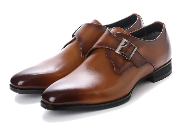 マドラス モデロ DM8003 LBR ライトブラウン モンクストラップ madras MODELLO モデーロ 紳士靴 ビジネスシューズ 防水テクノロジー【eVent】搭載