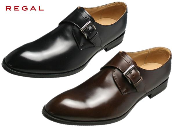 REGAL リーガル 813R AL ブラック モンクストラップ