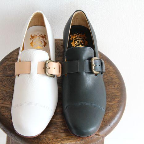 【クーポン対象外】chausser ショセ ベルト付き スリッポンシューズ C-2216 レディース 靴