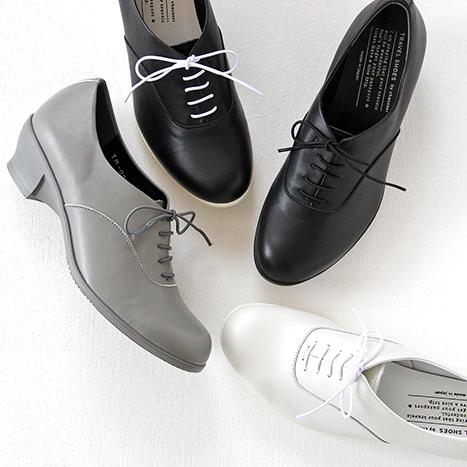 【10%OFFクーポン配布中】TRAVEL SHOES by chausser トラベルシューズバイショセ レースアップシューズ TR-007 レディース 靴