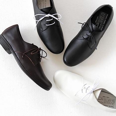 【10%OFFクーポン配布中】TRAVEL SHOES by chausser トラベルシューズバイショセ プレーントゥレースアップシューズ TR-008 レディース 靴