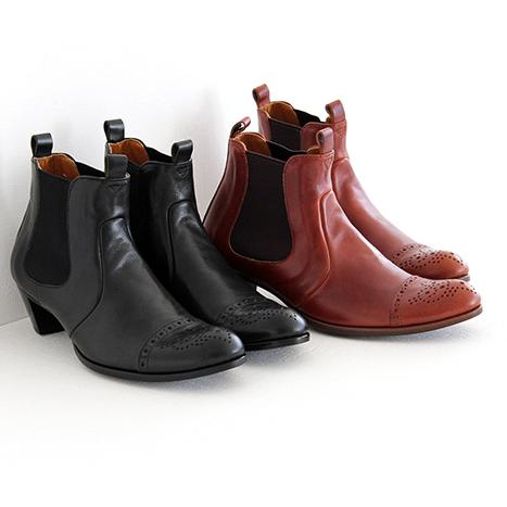 【クーポン対象外】plus by chausser プリュス バイ ショセ サイドゴアショートブーツ PC-5013 レディース 靴