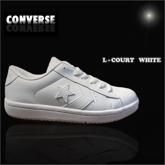 It is recommended to CONVERSE L-COURT WHITE attending school shoes white shoes  Converse white sneakers L coat white CV Converse L coat white white  sneakers ... 15a7e9a3f