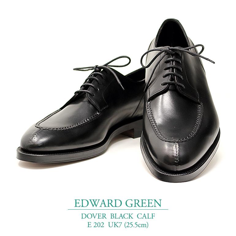 【新品 EG122】エドワードグリーン ドーバー ブラック カーフ Eウィズ 202ラスト UK7(25.5cm) EDWARD GREEN DOVER BLACK CALF E202