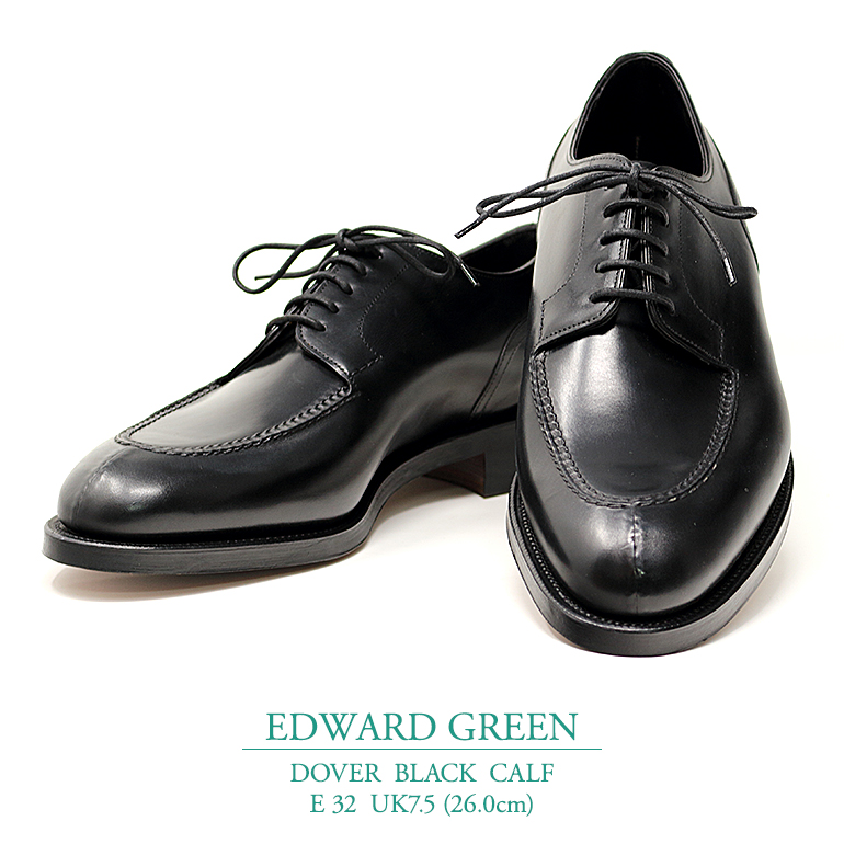 【新品 EG123】エドワードグリーン ドーバー ブラック カーフ Eウィズ 32ラスト UK7.5(26.0cm) EDWARD GREEN DOVER BLACK CALF E32