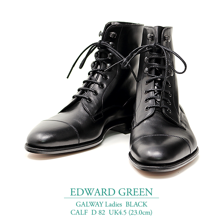 【新品 EG131】エドワードグリーン ゴールウェイ(レディース) ブラック カーフ Dウィズ 82ラスト UK4.5(23.0cm) EDWARD GREEN GALWAY BLACK CALF D82