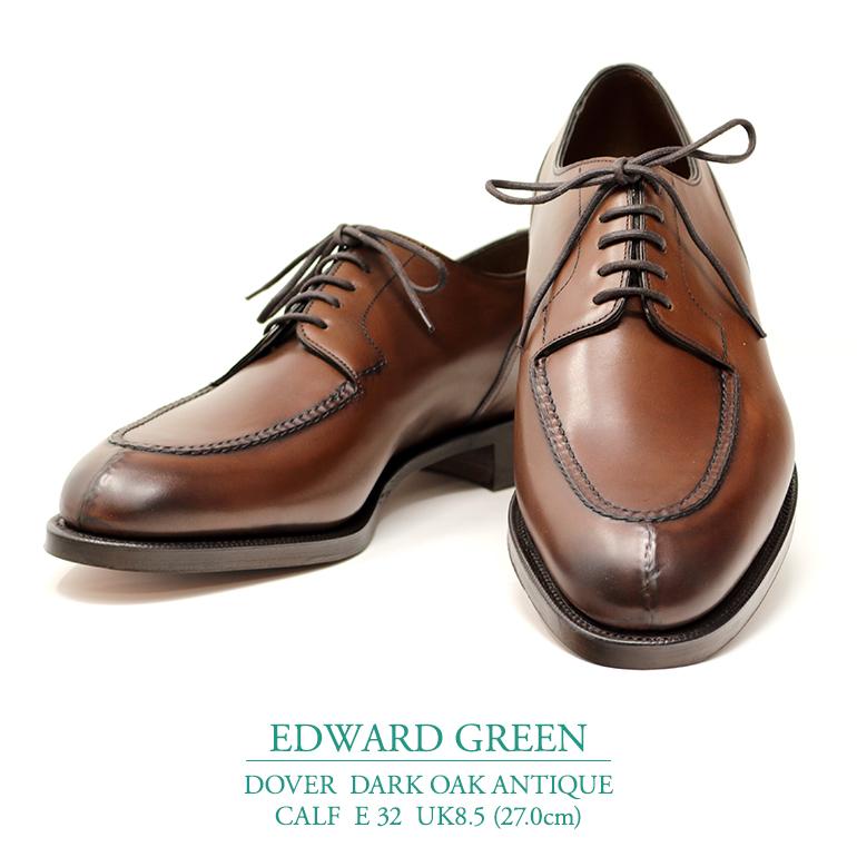 【新品 EG125】エドワードグリーン ドーバー ダークオークアンティーク カーフ Eウィズ 32ラスト UK8.5(27.0cm) EDWARD GREEN DOVER DARK OAK ANTIQUE CALF E32