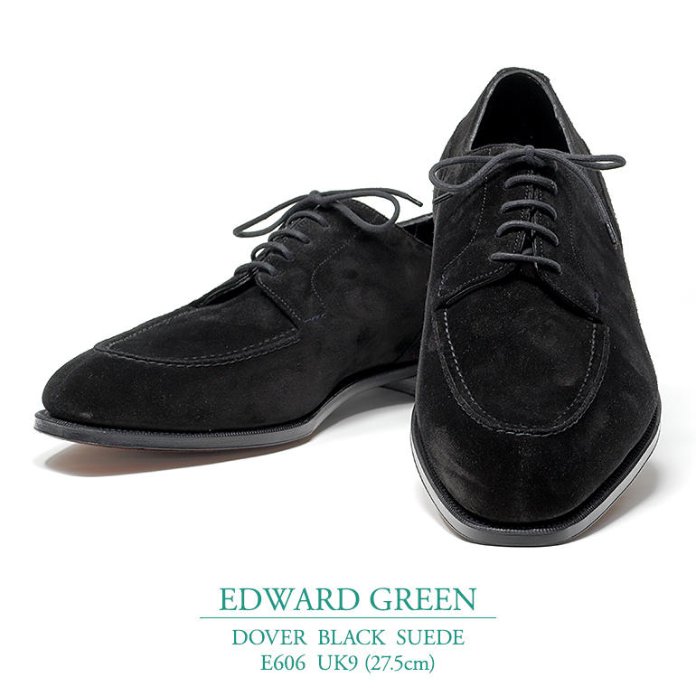 【新品 EG108】エドワードグリーン ドーバー ブラック スウェード Eウィズ 606ラスト UK9(27.5cm) EDWARD GREEN DOVER BLACK SUEDE E606