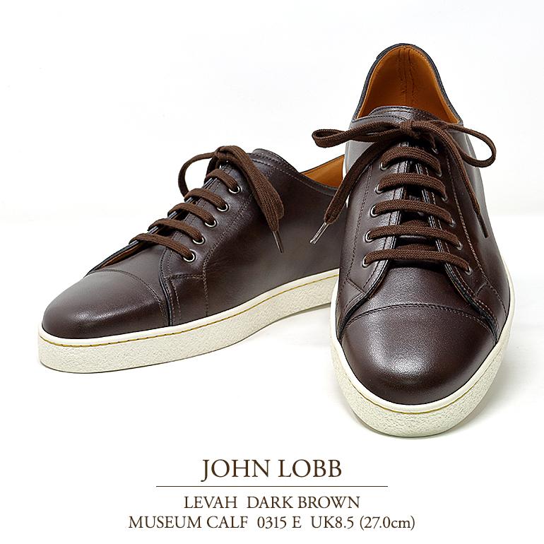 【新品 JL050】ジョンロブ レバー(レヴァー) ダークブラウン ミュージアムカーフ Eウィズ 0315ラスト UK8.5(27.0cm) JOHN LOBB LEVAH DARK 褐色 MUSEUM CALF 0315E
