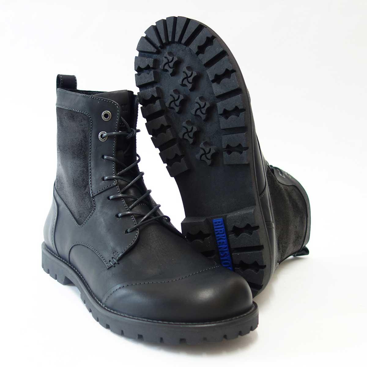 BIRKENSTOCK(ビルケンシュトック) GILFORD HIGH(ギルフォードハイ)メンズ 489111(天然皮革/ブラック)ヨーロッパ生まれの快適ブーツ「靴」