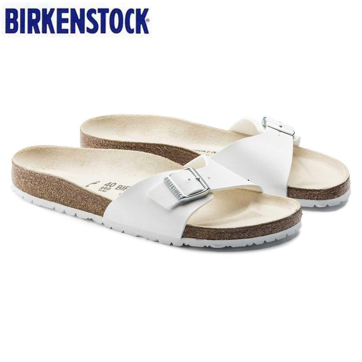 ビルケンシュトック BIRKENSTOCKMADRID(マドリッド)メンズ サンダル GC 040731(ビルコフロー/ホワイト)ドイツ生まれの快適フットベッド(正規輸入品)「靴」