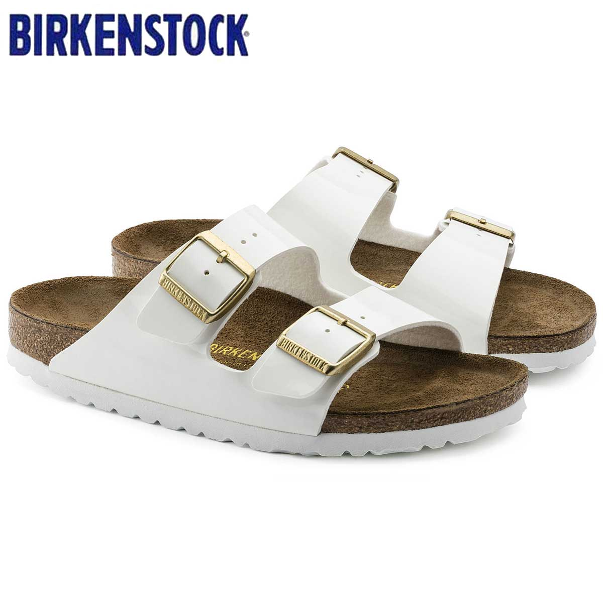 ビルケンシュトック BIRKENSTOCK ARIZONA(アリゾナ)GC 1005294 ホワイトパテント(ビルコフロー)(レディース サンダル)「正規輸入品」ドイツ生まれの快適サンダル「靴」