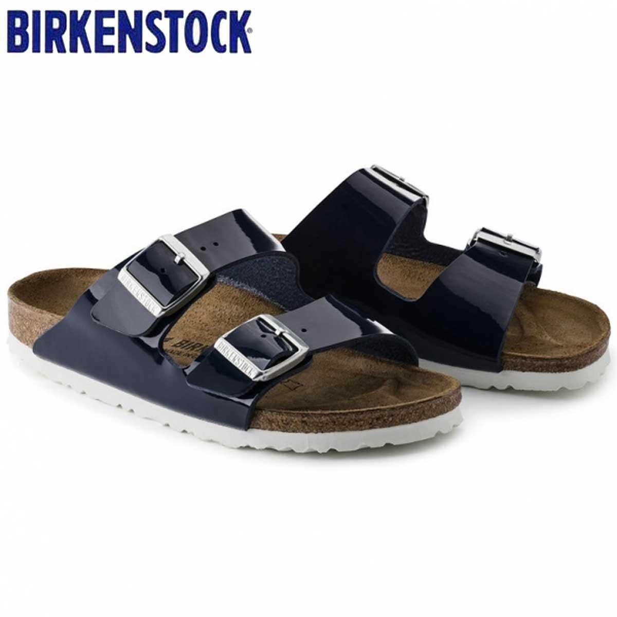 ビルケンシュトック BIRKENSTOCK ARIZONA(アリゾナ)GC 1005296 ドレスブルー パテント(ビルコフロー)(レディース サンダル)「正規輸入品」ドイツ生まれの快適サンダル「靴」