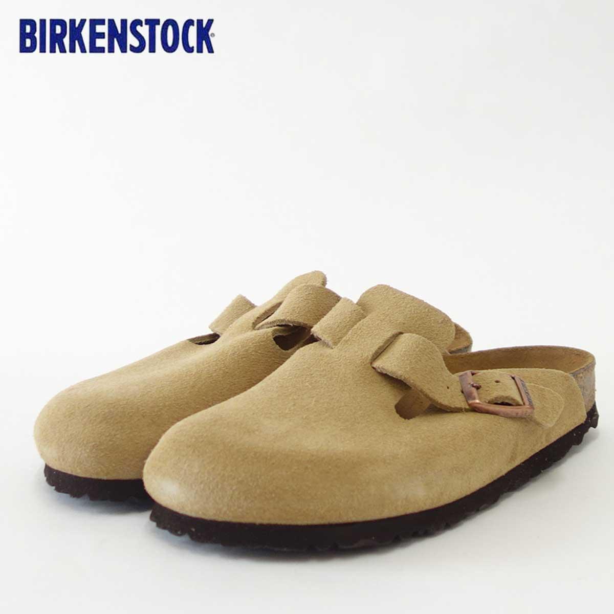 BIRKENSTOCK(ビルケンシュトック)Boston(ボストン)幅狭(ナローフィット)GC 1008073(スエードレザー/サンド)ドイツ生まれの快適フットベッド(正規輸入品)「靴」