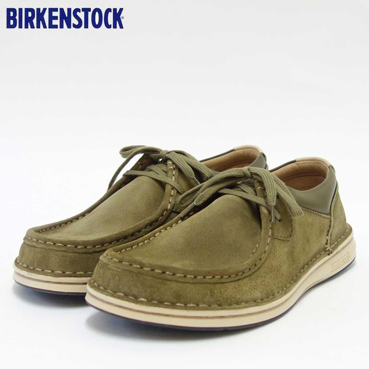 BIRKENSTOCK(ビルケンシュトック) PASADENA(パサデナ)メンズ 1008483(天然皮革/カーキ)ヨーロッパ生まれの快適シューズ(正規輸入品)「靴」