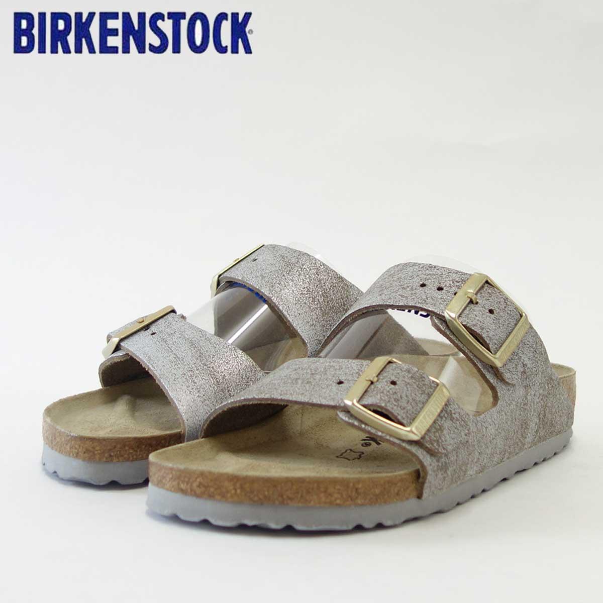 BIRKENSTOCK ビルケンシュトック ARIZONA(アリゾナ)GC 1008796 ウォッシュドメタリック ブルーシルバー(レディース)「正規輸入品」ドイツ生まれの快適サンダル「靴」