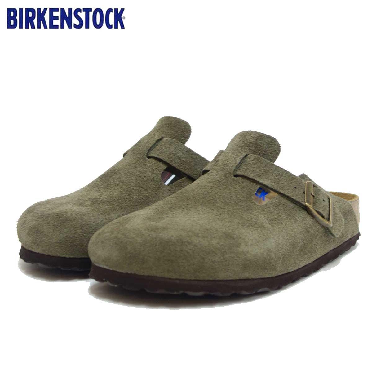 ビルケンシュトック BIRKENSTOCK Boston(ボストン)幅狭(ナローフィット) GC 1011294(スエードレザー/フォレスト) 「靴」