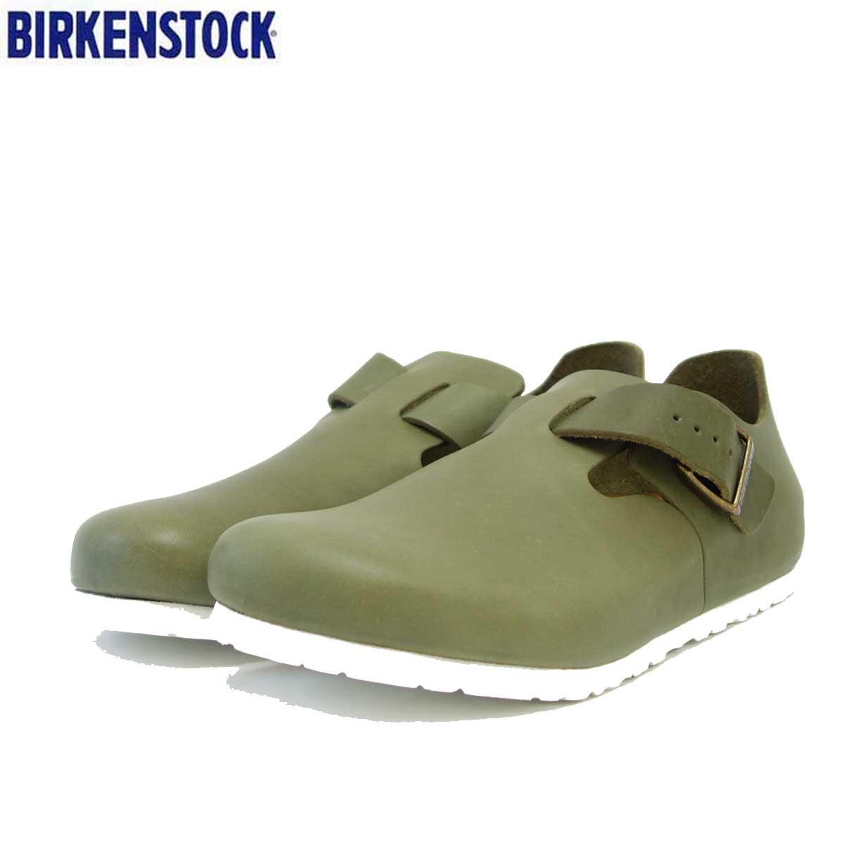 ビルケンシュトック BIRKENSTOCK LONDON(ロンドン)レディース GS 1013293(ナチュラルレザー/カーキ) 「靴」