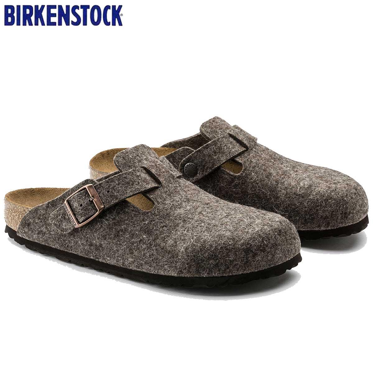 ビルケンシュトック BIRKENSTOCK Boston(ボストン)幅狭(ナローフィット) GC 160583(ウールフェルト/ココア) 「靴」