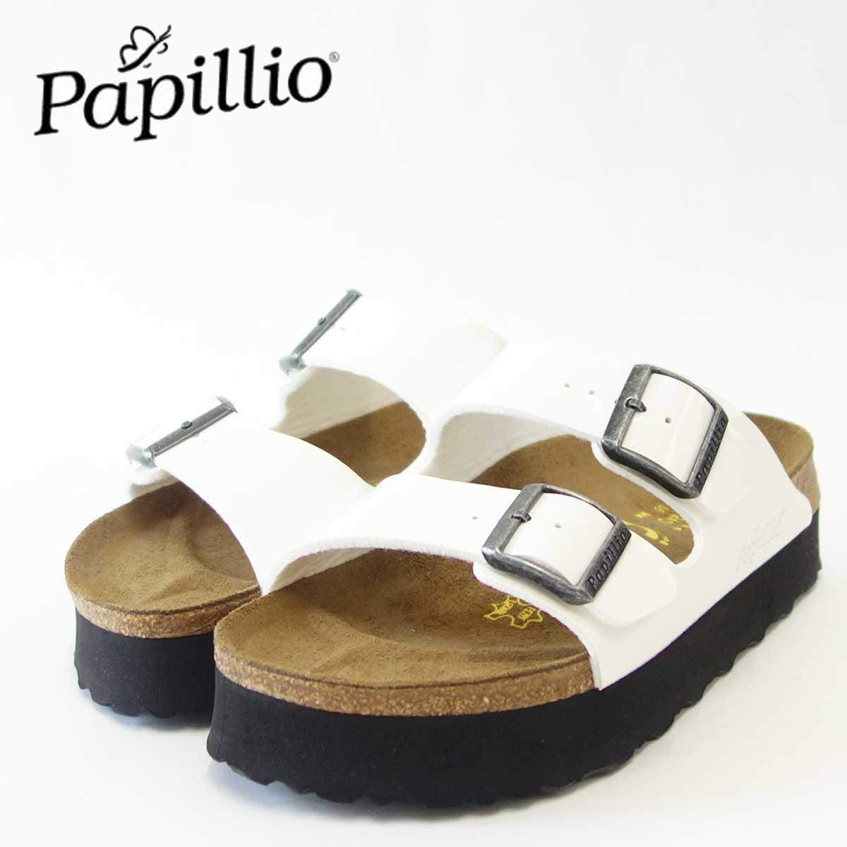 ビルケンシュトック Papillio パピリオ Arizona(アリゾナ)レディース 363913(ビルコフローパテント/ホワイト)厚底が新鮮でお洒落なサンダル「靴」