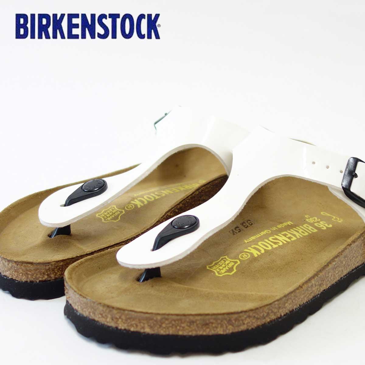 BIRKENSTOCK(ビルケンシュトック) GIZEH(ギゼ)レディース 543761(ビルコフロー/ホワイトパテント)ドイツ生まれの快適サンダル「靴」