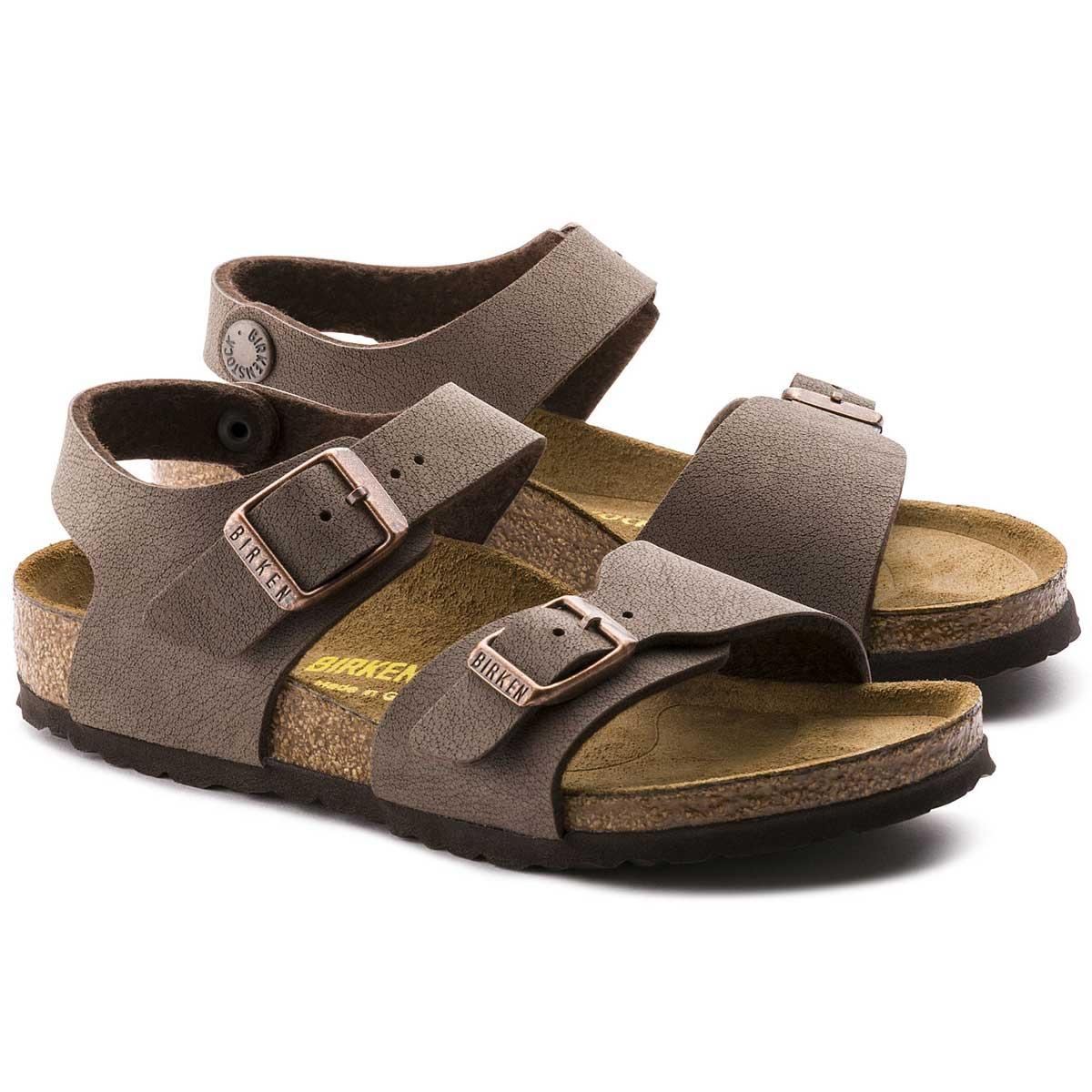 BIRKENSTOCK(ビルケンシュトック) NEW YORK(ニューヨーク)キッズサンダルGK 087783(ビルコフローヌバック/モカ)「靴」 子ども靴