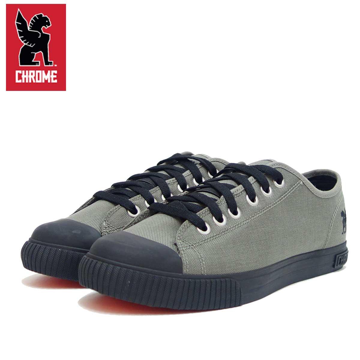 クローム CHROME KURSK(メンズ)グレー/ブラック (FW-106-GYBL) タフなキャンバススニーカー 「靴」