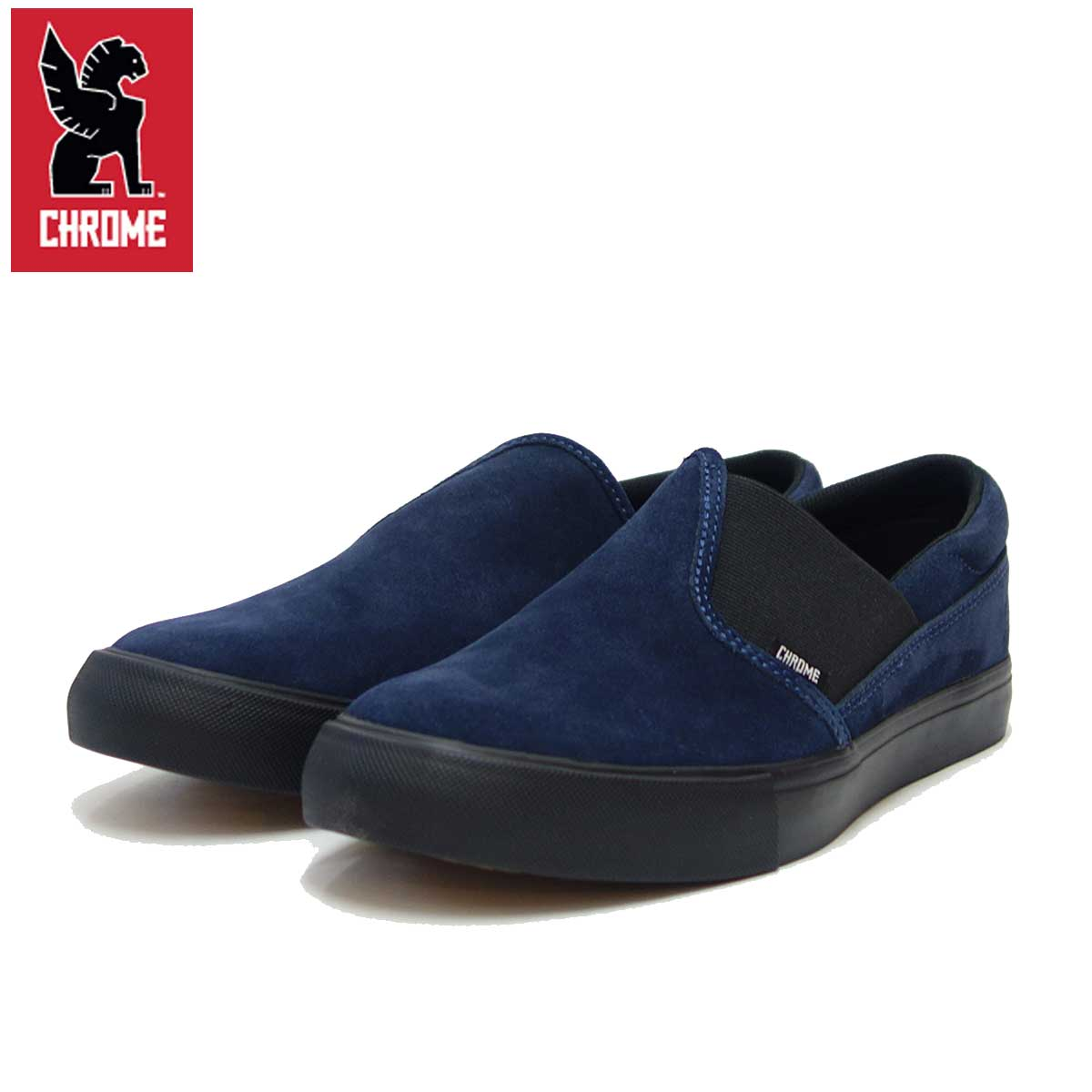 クローム CHROME DIMA 2.0 SUEDE(ディマ 2.0 スエード)ネイビー/ブラック (FW-169-NBSD) タフなアーバンスニーカー 「靴」