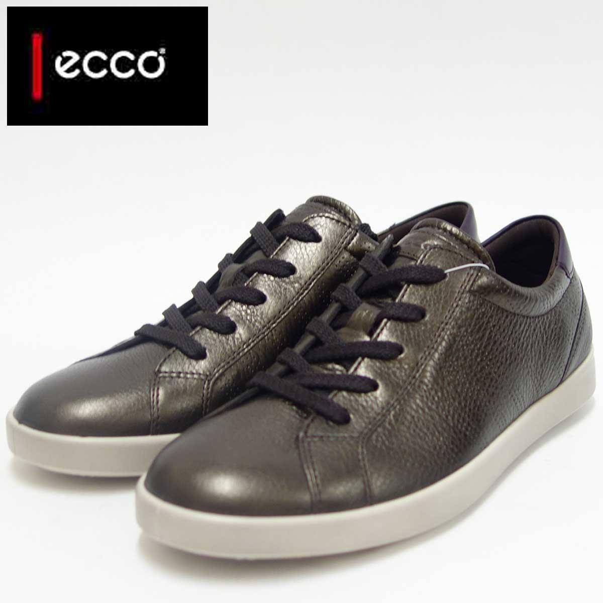 ECCO エコー 241023 リコリスメタリック(レディース)上質レザーレースアップシューズお洒落カジュアル&ウォーキング天然皮革コンフォートシューズ「靴」