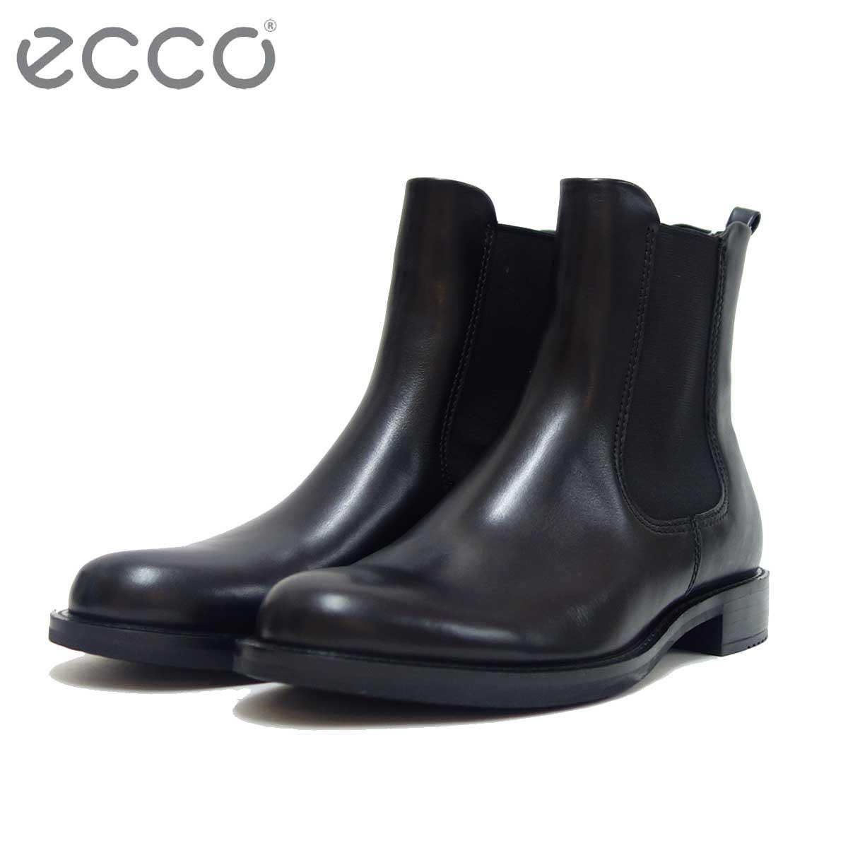 エコー ECCO 266503 ブラック (レディース) 上質天然皮革のサイドゴアブーツ「靴」