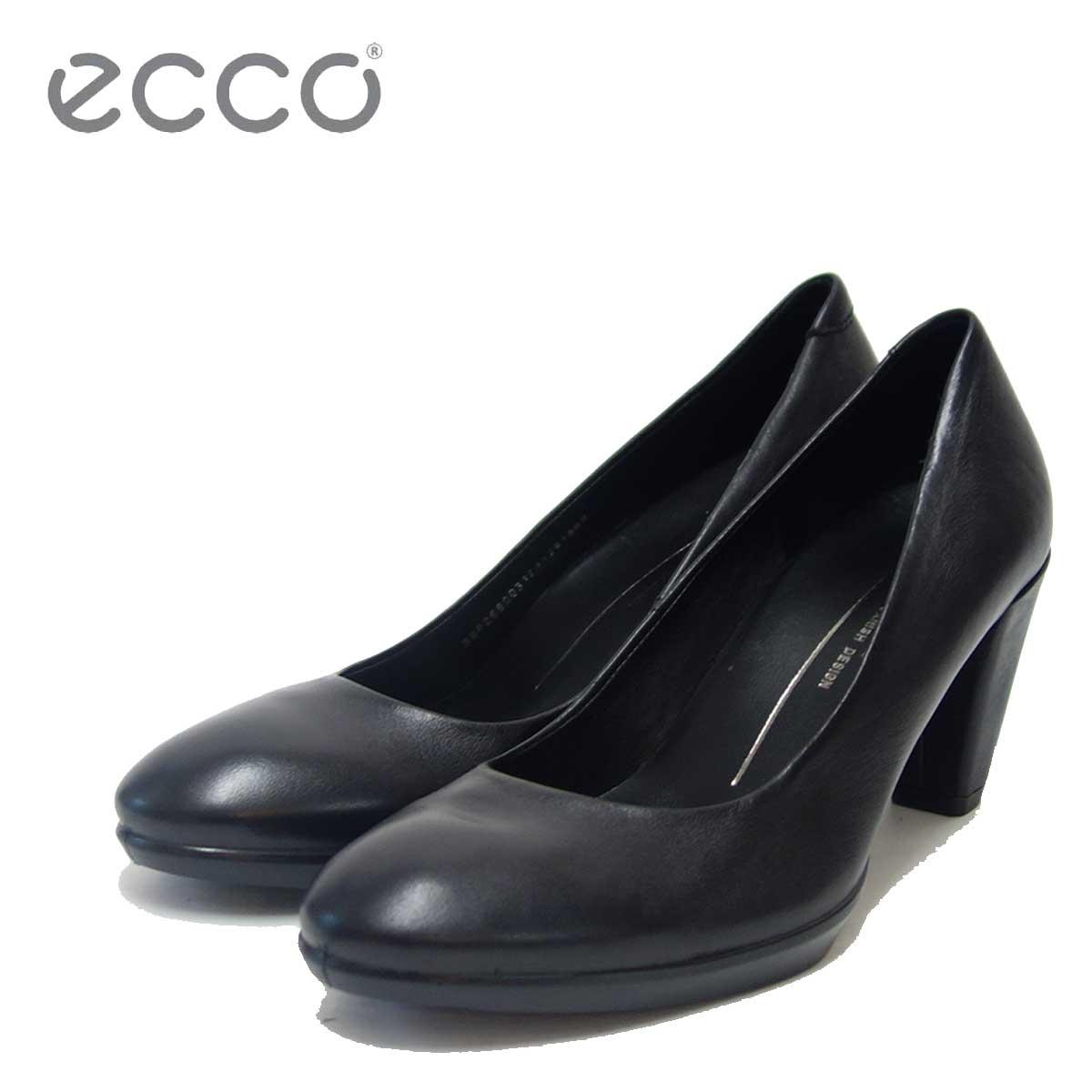 ECCO エコー 268003 ブラック (レディース)快適な履き心地のパンプス天然皮革コンフォートシューズ「靴」