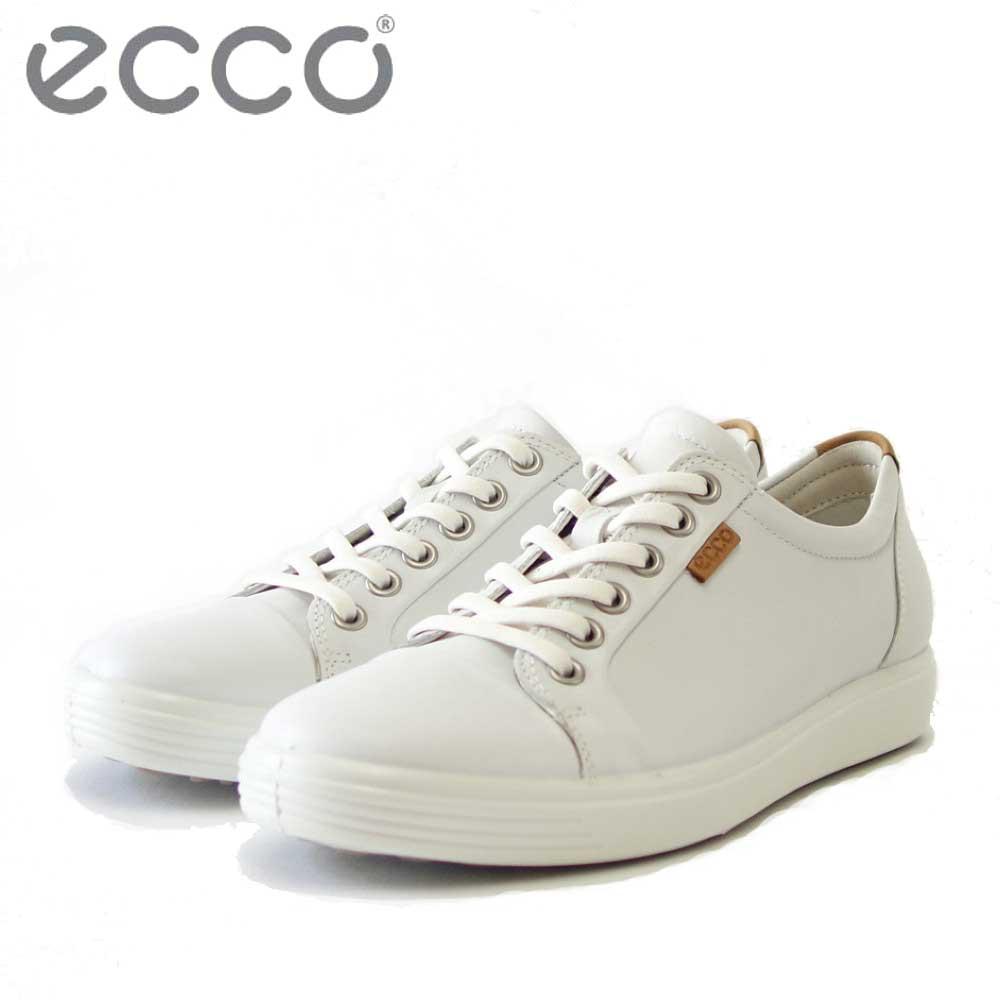 エコー ECCO SOFT7 Womens Sneaker ホワイト 430003 (レディース) 快適な履き心地のレザースニーカー レースアップシューズ「靴」