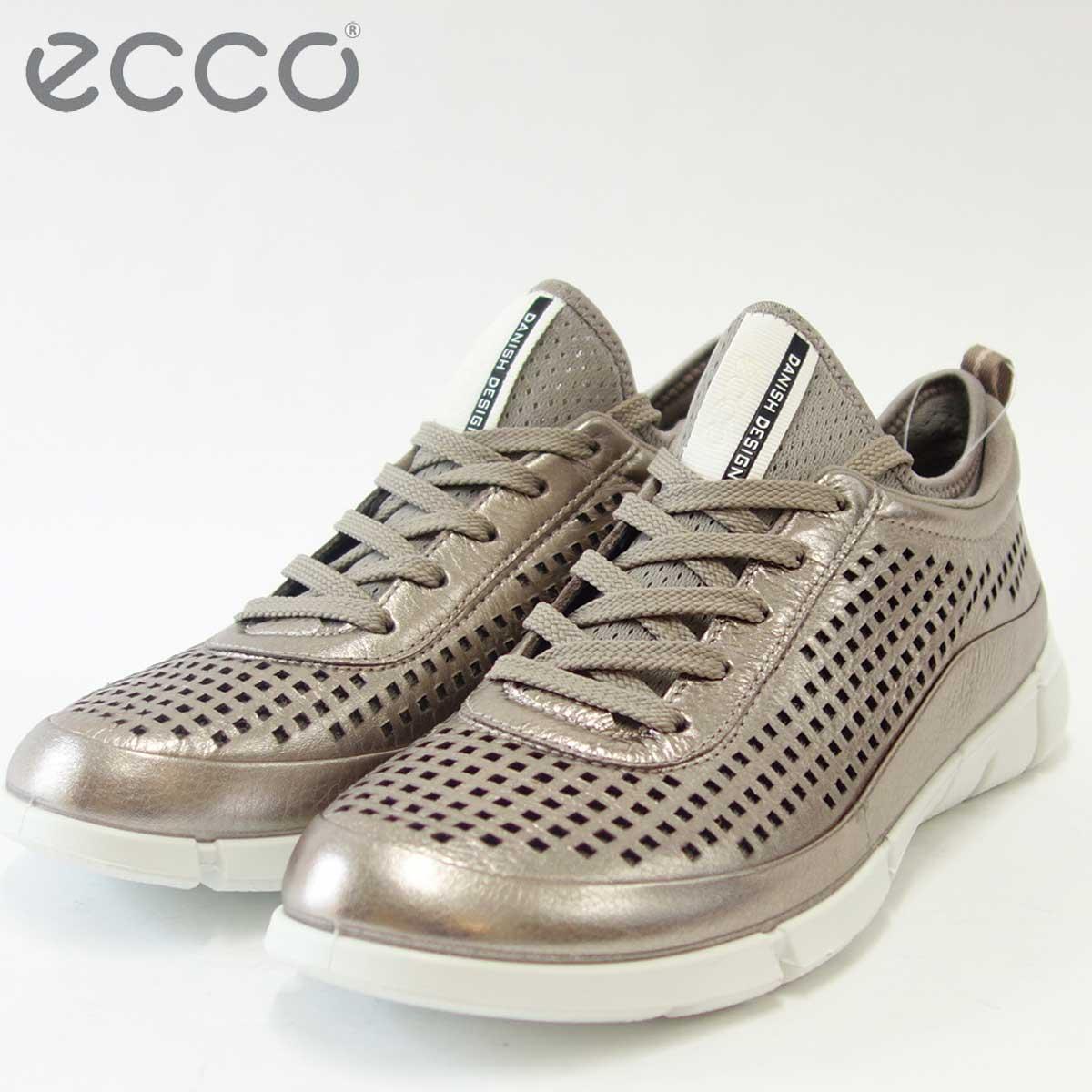 ECCO エコー 860013 ウォームグレーメタリック(レディース)上質レザーのレースアップシューズECCO INTRINSIC 1 Low cut lace「靴」