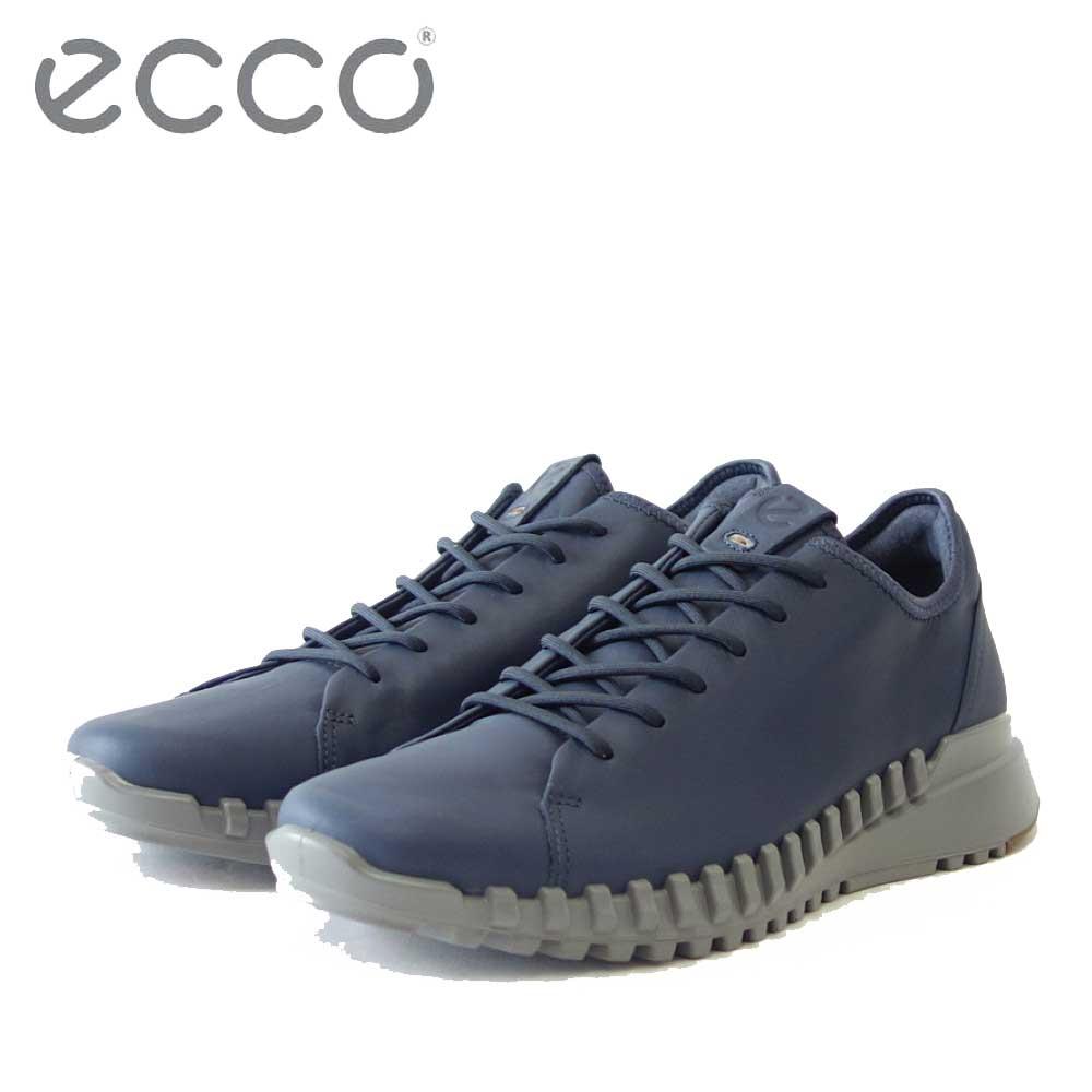 エコー ECCO ZIPFLEX Mens Sneaker LOW Lace/Zip  ブルー 803764(メンズ)天然皮革 アウトドア ウォーキング シューズ スニーカー