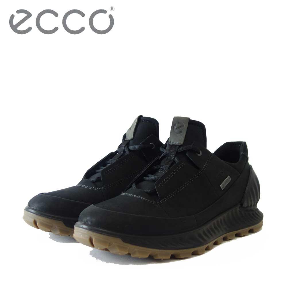 エコー ECCO EXOSTRIKE Mens Outdoor Sneaker GTX ブラック 832444(メンズ)天然皮革 アウトドア ウォーキング シューズ 完全防水 スニーカー 「靴」