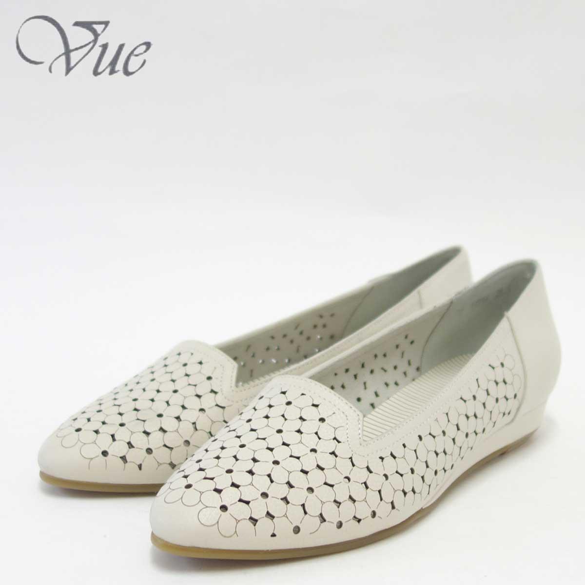 【スーパーDEAL30%ポイントバック】Vue ビュー EIZO Collection 11554 アイボリー上質レザーのスリッポンシューズ「靴」