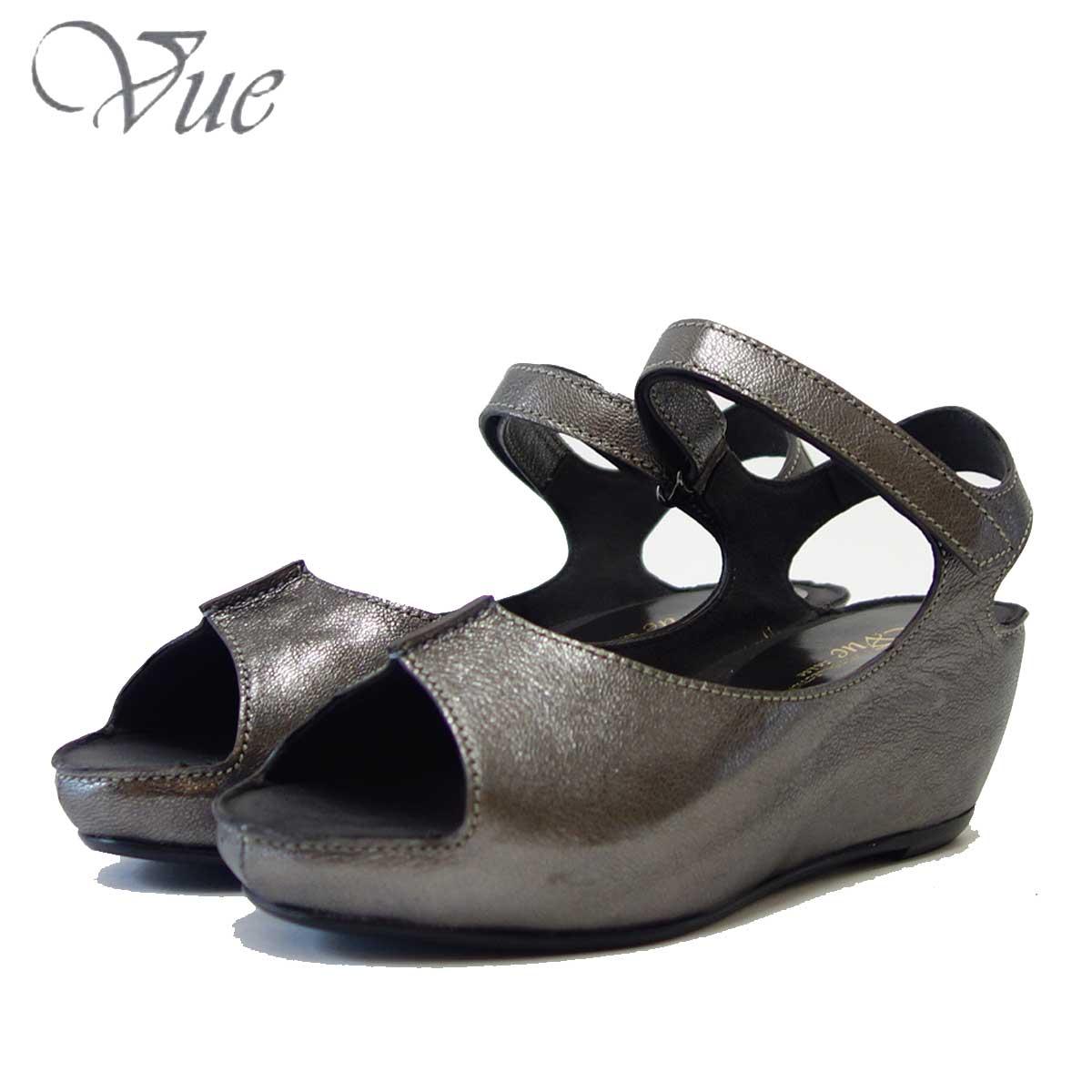 Vue ビュー EIZO Collection 53577 エタン オープントゥ ウェッジサンダル 「靴」
