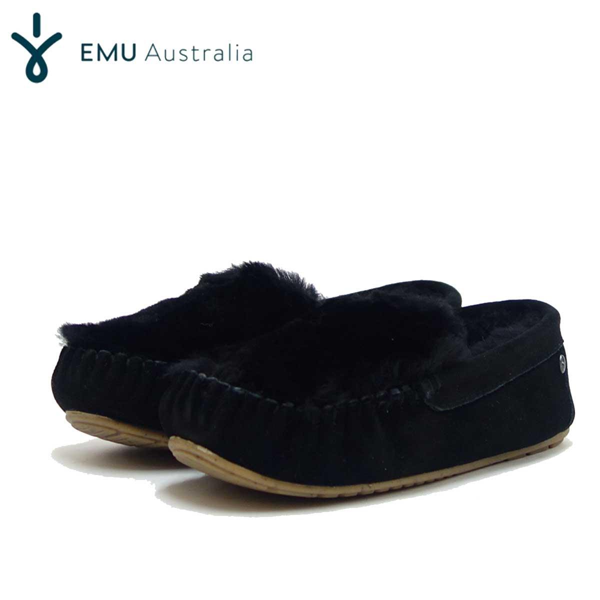 エミュー EMU W 11705 CAIRNS REVERSE FUR ケアンズリバースファー(レディース) :ブラック 「靴」
