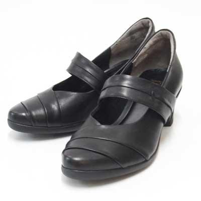 疲れにくいコンフォートパンプス(4E)FIZZ REEN フィズリーン 5244 ブラック(日本製)ソフトな天然皮革で優しくフィット「靴」