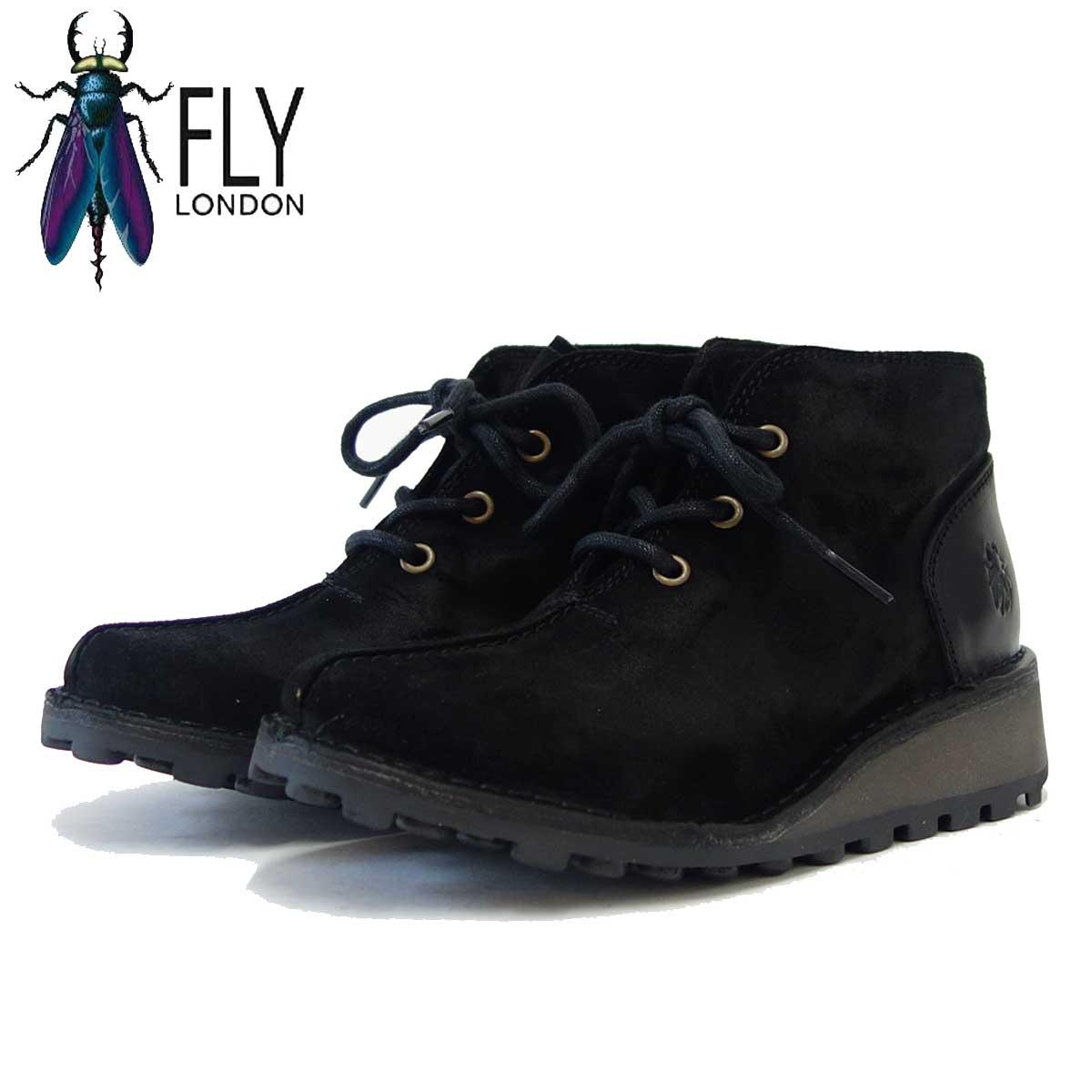 フライロンドン FLY LONDON MILI946FLY 210946 ブラックスエード 「靴」