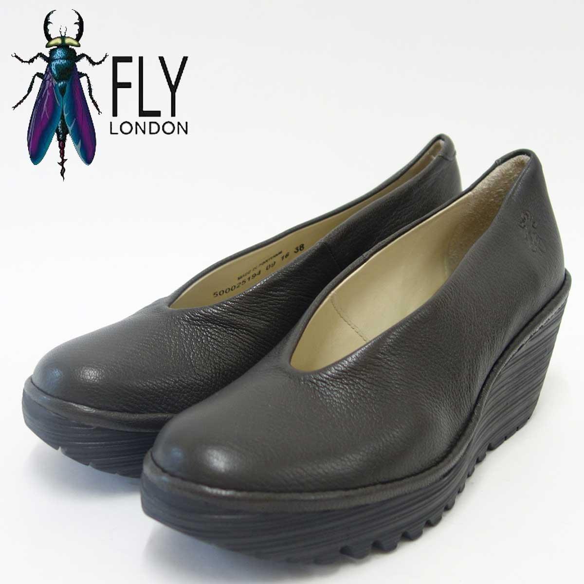 FLY LONDON フライロンドンYAZ 500025 NICOTINE厚底ウェッジシューズ「靴」