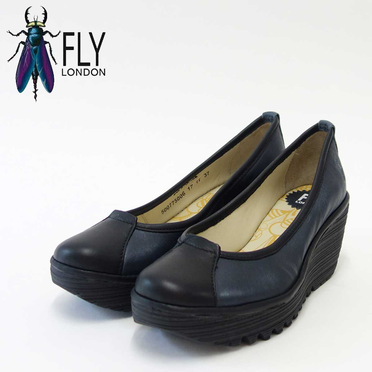 FLY LONDON フライロンドンYERB775FLY 500775 GRACE/REEFポルトガル製ウェッジパンプス「靴」