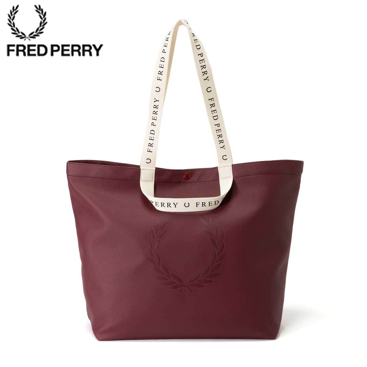 FRED PERRY フレッドペリー Logo Tote Bag F9553 17(MAROON)