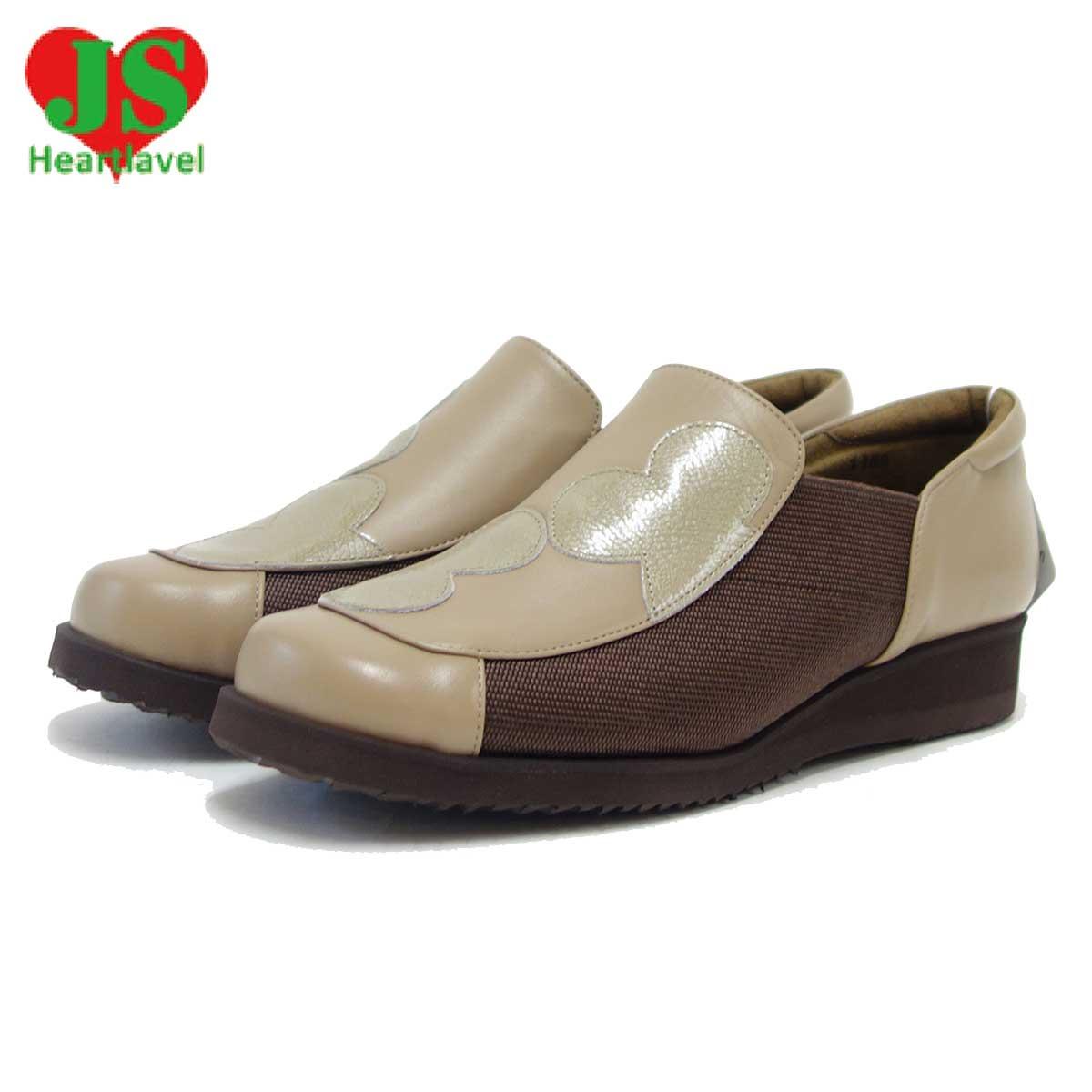 ジェイエス ハートラベル JS Heartlavel 1159 オーク(レディース)日本製 ゆったりEEEEの楽ちんシューズ「靴」