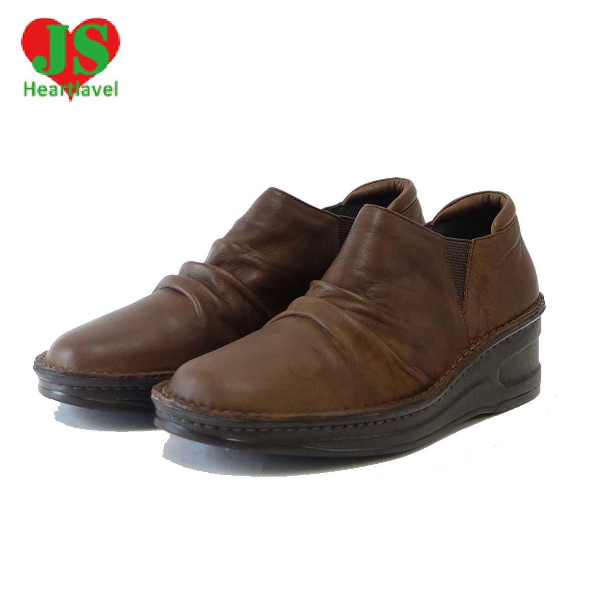 ジェイエス ハートラベル JS Heartlavel 85 ダークブラウン(レディース)日本製 ゆったりEEEの楽ちんシューズ「靴」