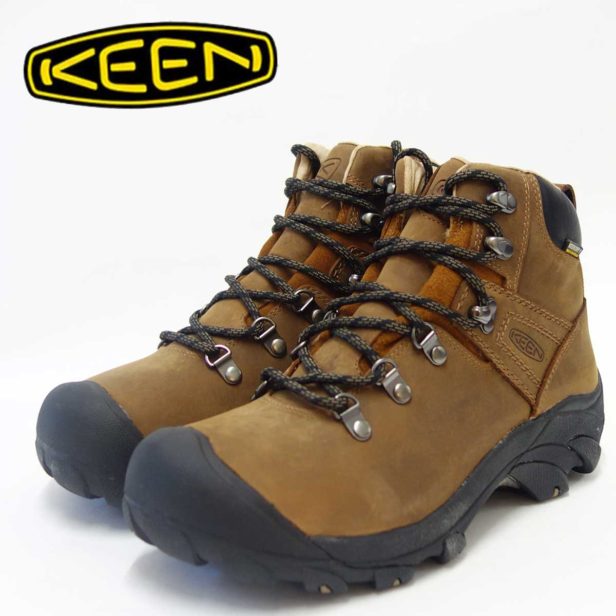 KEEN キーン Pyenees 1002435 ピレニーズ Syrup(メンズ)防水仕様、オールレザーのハイキングシューズ「靴」 父の日 ギフト