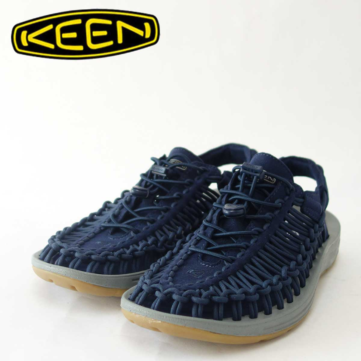 KEEN キーン UNEEK(ユニーク) 1017032(メンズ)キーン独自のハイブリッドサンダル カラー:Dress Blues/Neutral Gray「靴」