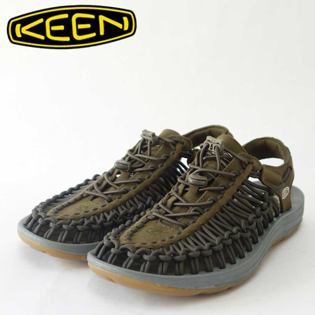 KEEN キーン UNEEK(ユニーク) 1017033(メンズ)キーン独自のハイブリッドサンダル カラー:Dark Olive/Neutral Gray「靴」