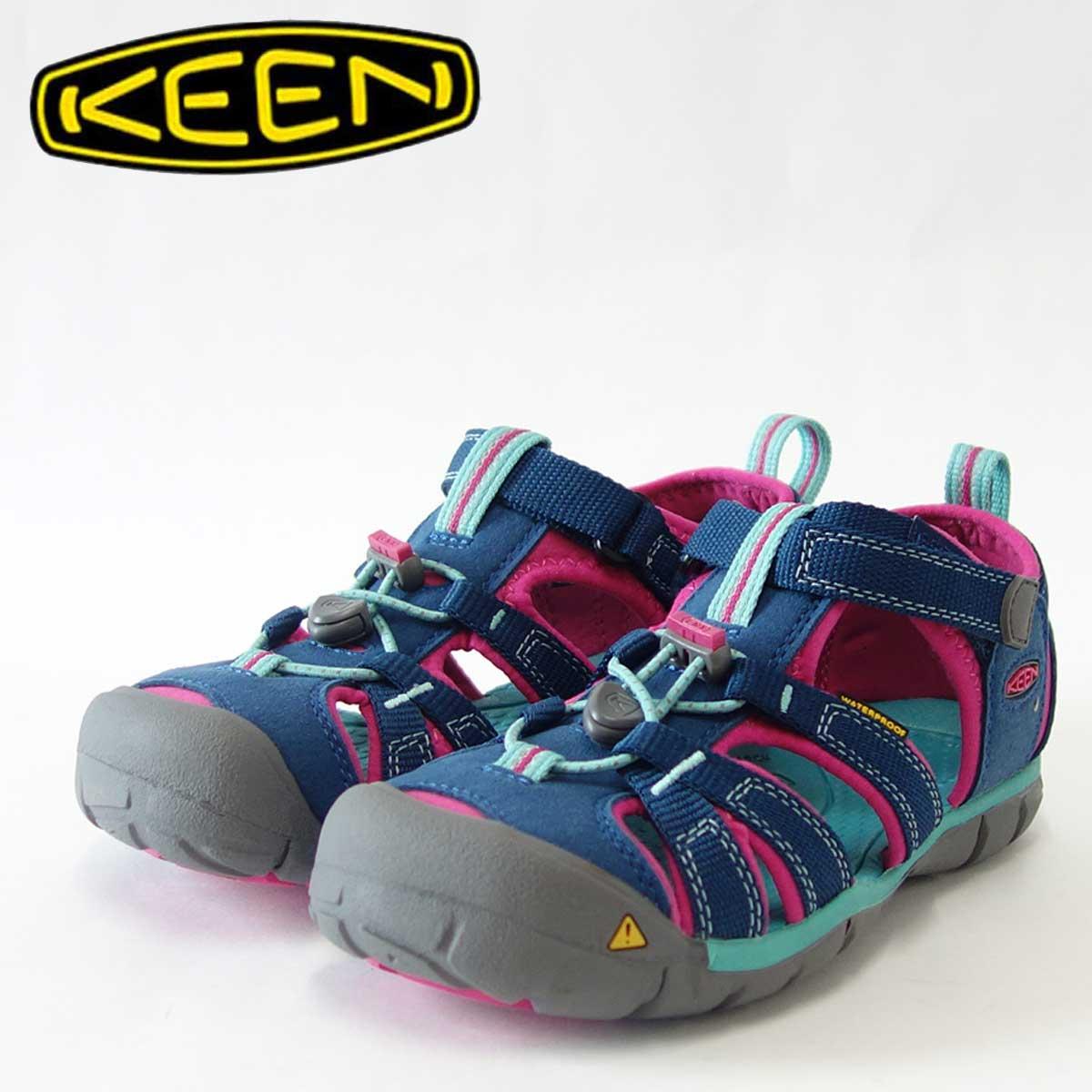 KEEN キーン KIDS Seacamp 2 cnx 1014127(キッズ)1014124 シーキャンプツーシーエヌエックスカラー:Poseidon / Very Berryアクティブスポーツハイブリッドシューズ「靴」